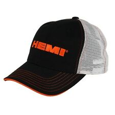 Hemi Cotton, Polyester, Black, White Mesh Hat Embroidered, Licensed