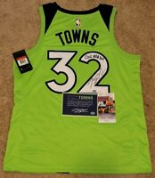 Karl-Anthony Towns Signed Nike Timberwolves Swingman Jersey Insc JSA & Towns COA