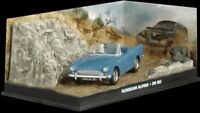 JAMES BOND COLLECTION - SUNBEAM ALPINE CAR - DR NO  - DIARAMA DISPLAY - 1:43