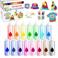 Tie Dye Kit - 15 Colours. DIY Fabric Dye Art Kit for Clothing, Hobby, Crafting