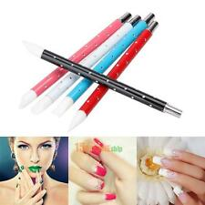 5Pcs Nail Art Pen Brushes Soft Silicone Carving Craft Sculpture UV Gel DIY Tools