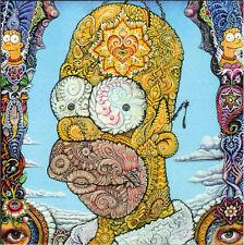Randal Roberts HOMER SIMPSON - BLOTTER ART Perforated Sheet acid free art