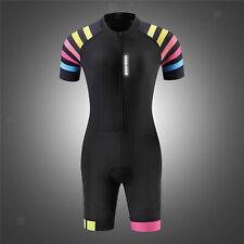 Womens Premium Padded Triathlon Tri Suit Running Swimming Cycling Skin Suit