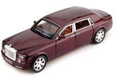 1/24 Rolls-Royce Phantom W/Sound Light Diecast Pullback Car Model Gift Toys