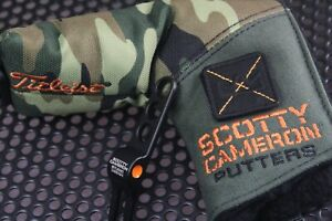 SCOTTY CAMERON CUSOTM SHOP HEAD COVER---CAMOUFLAGE/ WITH DIVOT TOOL - BLADE