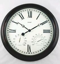 38cm Alfresco Outdoor Wall Clock with Temperature & Humadity Indicator