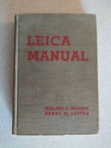 Vtg 1936 Leica Manual Book 2nd Ed 1st Print HC Camera Photography Morgan/Lester