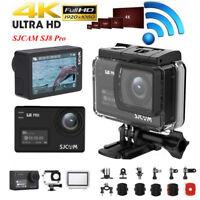 """2.3"""" SJCAM SJ8 Pro Waterproof 4K 1080P 12MP WiFi Sports Camera Dual Touch Screen"""