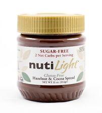 New Fresh Nutilight Sugar Free Low Carb Hazelnut And Cocoa Spread 11 Oz. Jar Tas