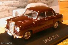 MERCEDES BENZ 180D 1.4 PONTON W120 1954 IXO 1/43 MARRON BROWN ALTAYA DARK RED