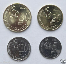 Malaysia Coins Set of 4 Pieces New Edition 2012 UNC