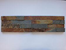pièces de PATRON ca.15x30cm Le pierre naturelle brique murale coloré lanières