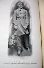 1910 US congress civil war gen wallace statue official ind. dedication book RARE