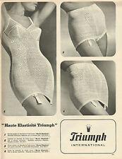 Publicité  Print AD 1966 Lingerie Triumph combiné haute élasticité gaine slip
