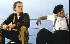 Titanic 35mm film slide Leonard Di Caprio and friend on deck