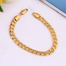Bracelet 18K Gold Classic Charm Chain Luxury Jewelry Gift for Girl Boy Unisex