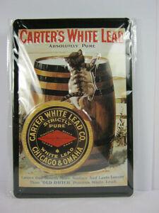Tin Sign Carters White 30 CM New, Metal Shield Nostalgia