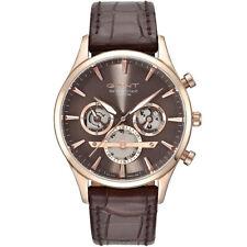 Gant GT005003 Ridgefield rose gold brown leather Men's Watch NEW