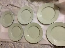 6 Rorstrand Swedish Grace design Louise Adelborg Salad Plates in Celadon Green