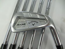 Used RH Callaway RAZR X Forged 5-PW Iron Set KBS Tour Stiff Flex Steel Shafts
