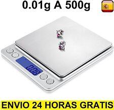 Peso Bascula Balanza digital 0.01-500g  de precisión profesional pilas incluidas