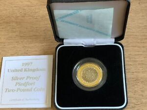 GB £2 1997 SILVER PROOF PIEDFORT MINT,BOXED WITH CERTIFICATE