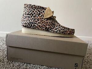 Wallabee Boot Brown Leopard Print
