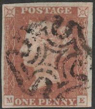 1841 SG8 1d RED BROWN PLATE 19 VERY FINE USED 4 MARGINS FULL MALTESE CROSS (ME)