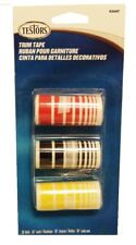 Testors 9204 Red, Black & Yellow Trim Tape.(1) Roll ea