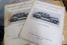 2CT 1946 MODELS HUDSON MOTOR CAR CO MECHANICAL INFO & SERVICE SPEC MANUAL -M36