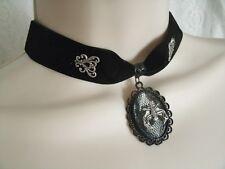 Gothic Choker Necklace, victorian goth fantasy halloween bat rockabilly vampire