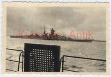 S636 Foto Wehrmacht Marine Schlacht Schiff Bismarck oder Tirpitz TOP Motiv