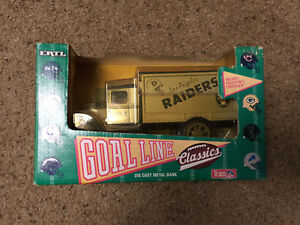 1993 Los Angeles Raiders ERTL Delivery NFL Truck / Bank Rare - HTF!