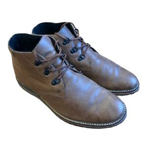 Lacoste Mens Brown Fleece Lined Chukka Leather Boots Size 9UK FAULT