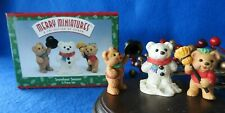 Hallmark Merry Miniature 3Pc 1997 Snowbear Season Snowman Bear ~New~