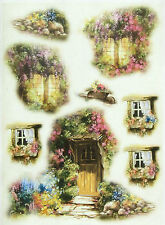 Rice Paper Cottage Decoupage Paper, Scrapbooking Sheets