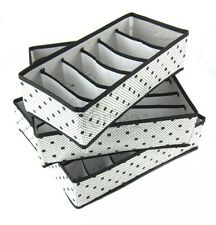 Periea 3 Pack Storage Solution Box Wardrobe Organiser Drawer Socks Bra Insert