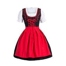 Dirndl Set  3 tlg.Trachtenkleid Kleid, Bluse, Schürze, Gr. 34-52 Neu OVP SchRot