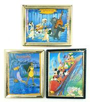 Lot de 3 petits cadres Disney * Aristochats / Pocahontas / Mickey - 10,5 cm x 13