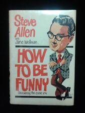 "Steve Allen ""How To Be Funny"" '871st Edition Signd+Mort Sahl Comedy Memorabilia"
