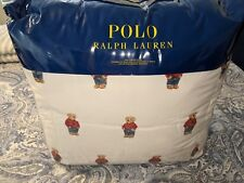 Ralph Lauren Polo Teddy Bear Twin Comforter SET Boy NWT with 1 Standard Sham