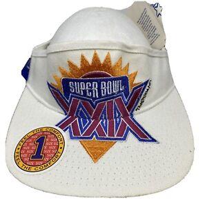 Vintage San Francisco 49ers Super Bowl XXIX Champs Starter S/M Visor Hat Cap NWT