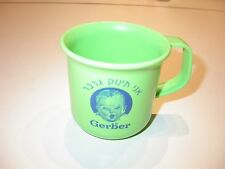 Gerber baby food cup, made of plastic light green color advertised in Israel