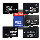 OEM 8GB 16GB 32GB 64GB 128GB Class10 Micro SD SDHC SDXC lot TF + SanDisk Adapter