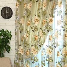 cortinas románticas de peonía para el dormitorio de la sala beige bolsillo