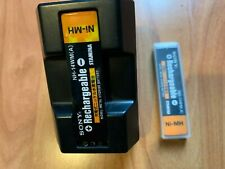 Sony Gumstick Ni-Cd Battery Charger BC 7S + 2 Rechargeable Batteries