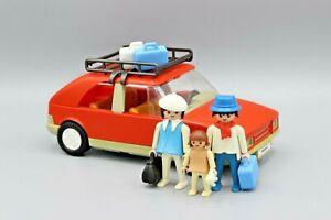 Playmobil 3139 Familienauto PKW Auto rot Reise Gepäck Figuren von 1986