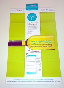 CORE HOME NY SILICONE STACKING MAT Pyramid Can Tin Bottle Drinks Rest LIME GREEN