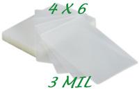 4 x 6 Laminating Laminator Pouches Sheets 50 pk 4-1/4 x 6-1/4 3 Mil Quality