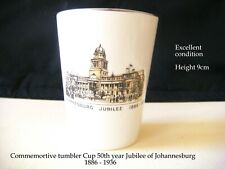 Vintage 1936 Johannesburg 50 years Commemorative Bone China Tumbler